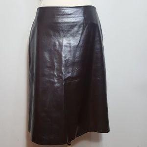 Vintage Calvin Klein Purple ShimmerLeather Skirt 4